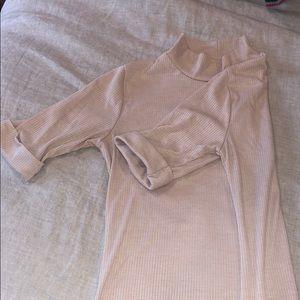 Cream short sleeve shirt